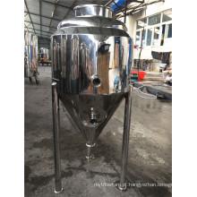 Tanque de revestimento de aço inoxidável com três níveis para fermentação