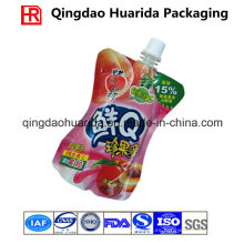 De Buena Calidad Customed Impreso Stand up Spout Pouch for Juice