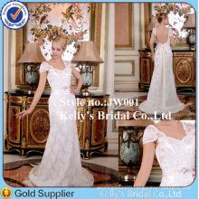 2014 most popular cap sleeves alibaba wedding dress