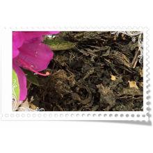 Perder chá escuro com folhas de lótus e outras ervas chinesas de saúde