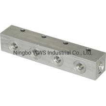 Hydraulic Manifold, 6.5 in Long by CNC Machining