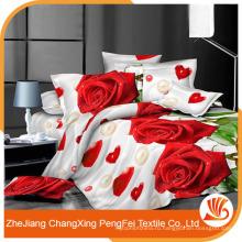 Горячая распродажа красивая роза печатных 3D Пододеяльник домашнего текстиля