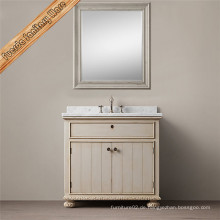 Fed-1698A Carrara weißes Marmor Top Badezimmer Vanity Cabinet