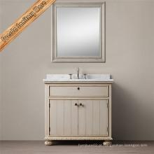 Fed-1698A Carrara White Marble Top Banheiro Vanity Cabinet