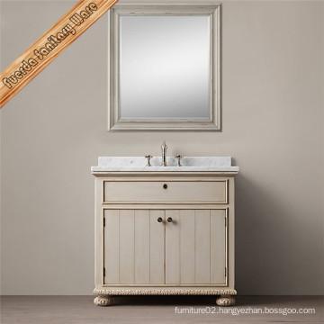 Fed-1698A Carrara White Marble Top Bathroom Vanity Cabinet