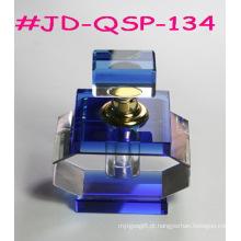 Garrafa De Perfume De Vidro De Cristal Azul (JD-QSP-134)