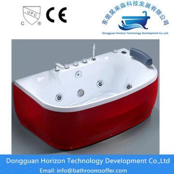 CE Two Persons Corner Rectangle Jacuzzi Bathtub