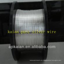 Hebei anping KAIAN 0.1mm alambre 9999 alambre de plata puro