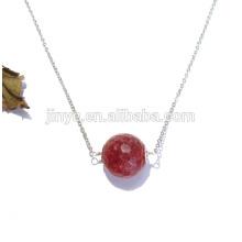Grand collier de costume de pierres précieuses naturelles