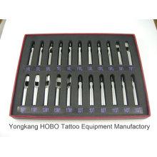 Pontas novas da agulha do tatuagem da prata inoxidável do Short