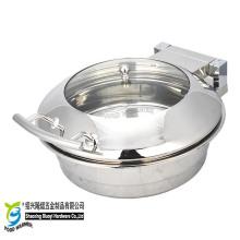 Kleine runde Induktionsbuffet Chafing Dish Chafer