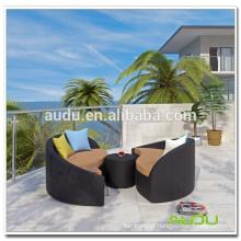 Audu Waterproof Resin Wicker Metal Daybed