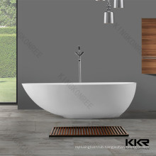 Free standing composite stone resin bath tub / solid surface bathtub