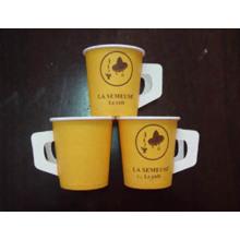 Taza de papel de 4 onzas con mango Desechable Hot Cup