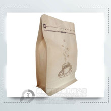 250g Flat Bottom Bag for Coffee Packaging