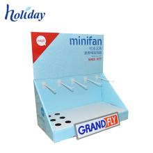 Make-up Karton Tischplatte Ring Display-Ständer mit Peg Haken für Ohrstöpsel