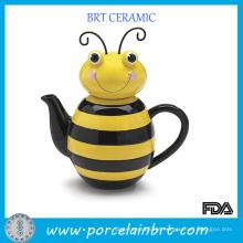 Bule de chá brilhante com padrão especial de abelha