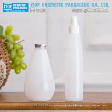 gota de 200ml 300ml forma estándar cuello 28/400 24/410 helada botella de la bomba de plástico hdpe
