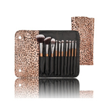 10PCS Nylon Hair Portable Makeup Brush Set with Special Wooden Handle