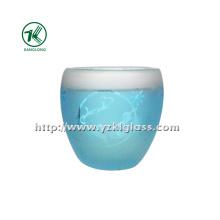 Garrafa de vidro de parede de cor dupla