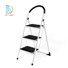 FOLDABLE 3 STEP STEEL LADDER SAFETY KITCHEN