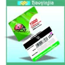 clear plastic magnetic stripe cards