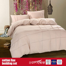 Cotton Flax Bedding Set for Home Luxury Hotel Use