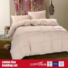 Conjunto de cama de linho de algodão para uso doméstico de hotel de luxo