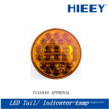 "4"" Round led truck tail lights, stop/tail/turn lamp,10-30V led round tail light,tail light for truck and trailers"