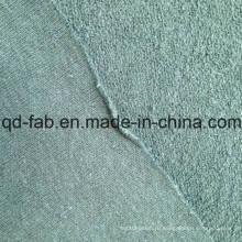 Конопляная / хлопчатобумажная трикотажная махровая ткань - Green-by The Yard (QF14-1467)