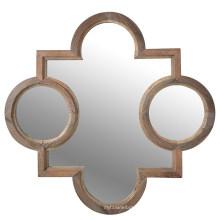 Miroir de mur encadré en bois formé par vente chaude pour la décoration à la maison