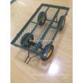 chariot de jardin en plastique avec quatre roues