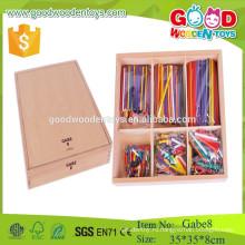 Высокое качество дешевая цена деревянные палочки игрушки GABE 8 froebel подарок gabe обучающие игрушки