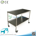 Medical Veterinary 304 Stainless Steel Surgical Trolley