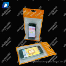 High Quality ziplock plastic bag mobile cover/zipper plastic mobile phone packaging bag
