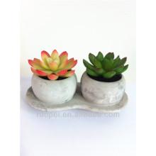 Mini planta bonsai artificial realista de maceta de cerámica con precio feliz