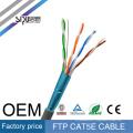 СИПУ заводская цена 305м локальных сетей огнезащитная разъем RJ45 кабель cat5e 4 пары 24awg кабель FTP в локальной сети сетевой кабель