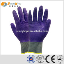 13 Gauge nylon knit palm coated work gloves
