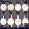 Yxl-622 Japan Movt. Edelstahl, die klassische Nato Band Männer beobachten, schlanke Nato Nylon Armband Dw Uhren