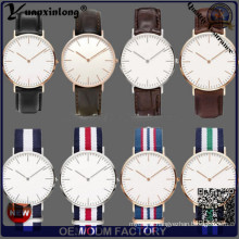 Yxl-549 Fashion Stainless Steel Case Brand Couple Lover Nylon Strap Watches Nato Wrist Watch
