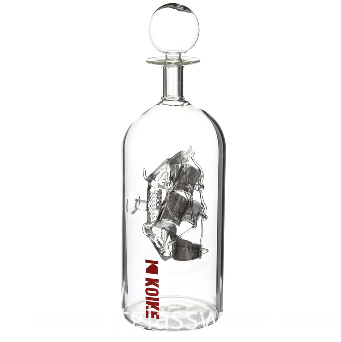 custom design glass bottle