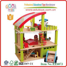 Игрушки для детей высшего качества для детей Красочный мини-деревянный дом для кукол