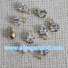 Wholesale 5MM Mini Metal Faceted Rhinesatone Charms Pendants