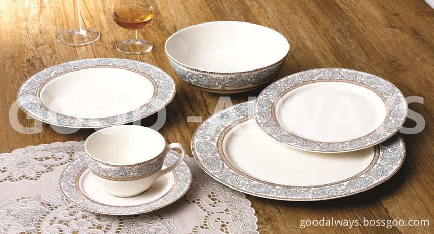 Nbc 720 New Bone China Lace Design Golden Color