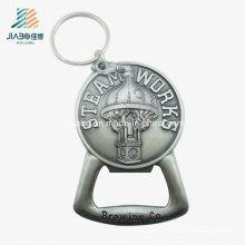 Ouvreur de bouteille en métal fait sur commande antique de logo de deux côtés pour promotionnel ou souvenir