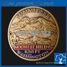 personalize medalhas de metal, medalhas de vara de caminhada personalizadas de alta qualidade com acabamento antigo e esmalte macio