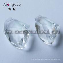 Perles facettes en cristal de forme irrégulière pour les pièces de bijoux