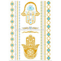 Temporary Teboric tattoo sticker for maquiagem Custom tatoo gold metallic temporary body jewelry tattoo>>> Flash Gold Silver Metallic Temporary Tattoos Sticker Henna Tattoo (Hot sale)>>> Yincai 2017 low price metallic bachlorette tattoo>>>