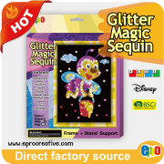 EPRO CA9524C glitter foil art, bee design art & craft kit for kids with accessories and EN71