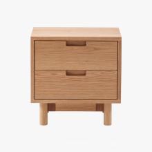 Mueble de madera 2DRW Cofre de noche de madera